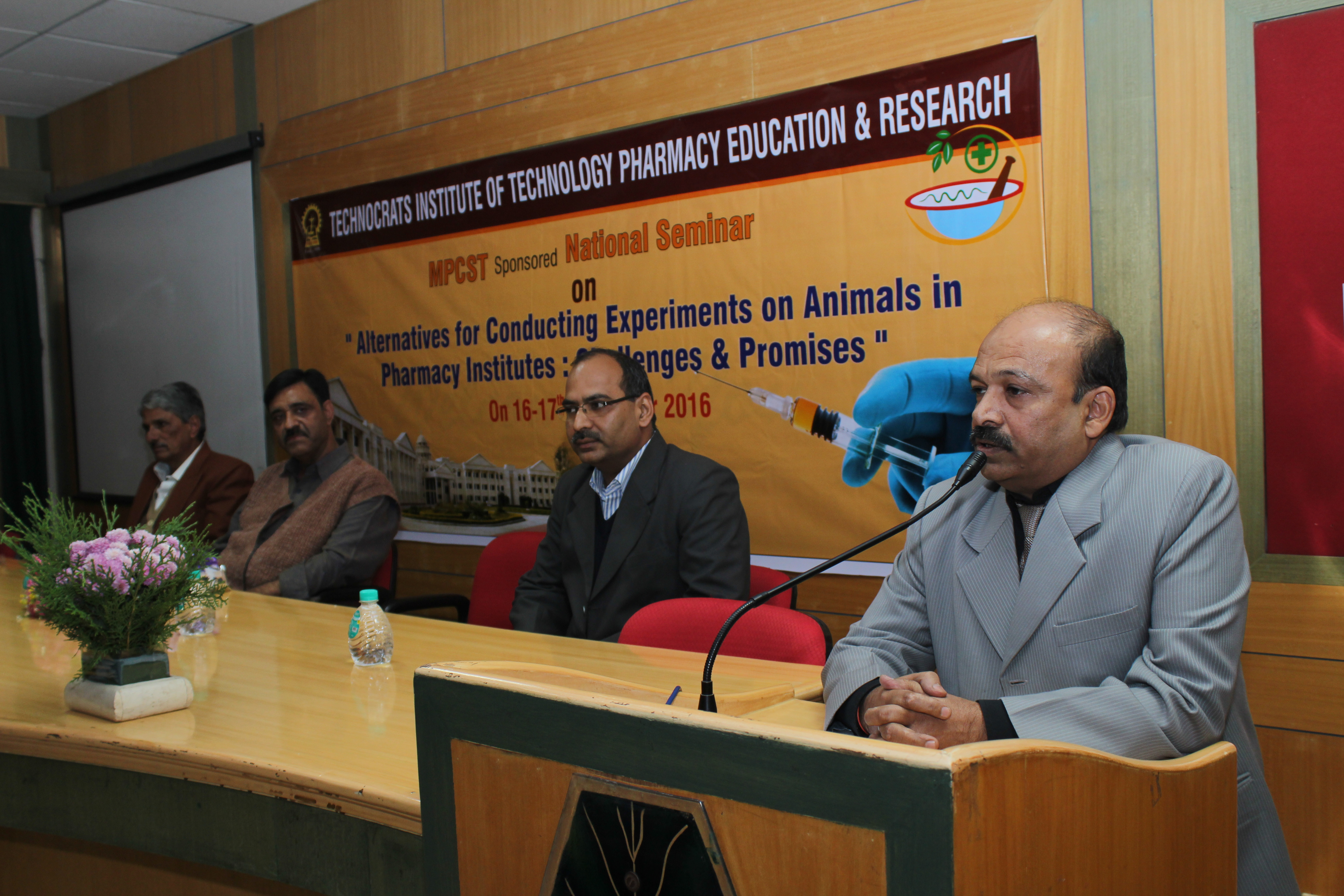 "TECHNOCRATS INSTITUTE OF TECHNOLOGY PHARMACY EDUCATION & RESEARCH Organised Two Day National Seminar on ""ALTERNATIVES FOR CONDUCTING EXPERIMENTS ON ANIMALS IN PHARMACY INSTITUTES:CHALLENGES & PROMISED"""