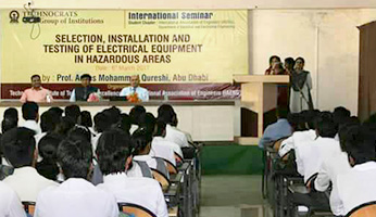 International Seminar of Selection,Installation and Testing of Electrical Equipment In Hazardous Areas in Technocrats Institute of Technology (Excellence)