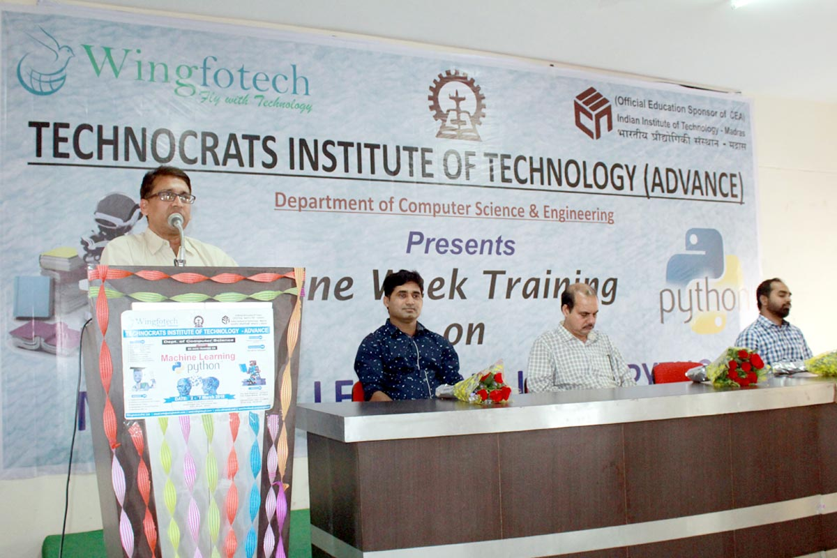 Machine Learning workshop in association with IIT Madras