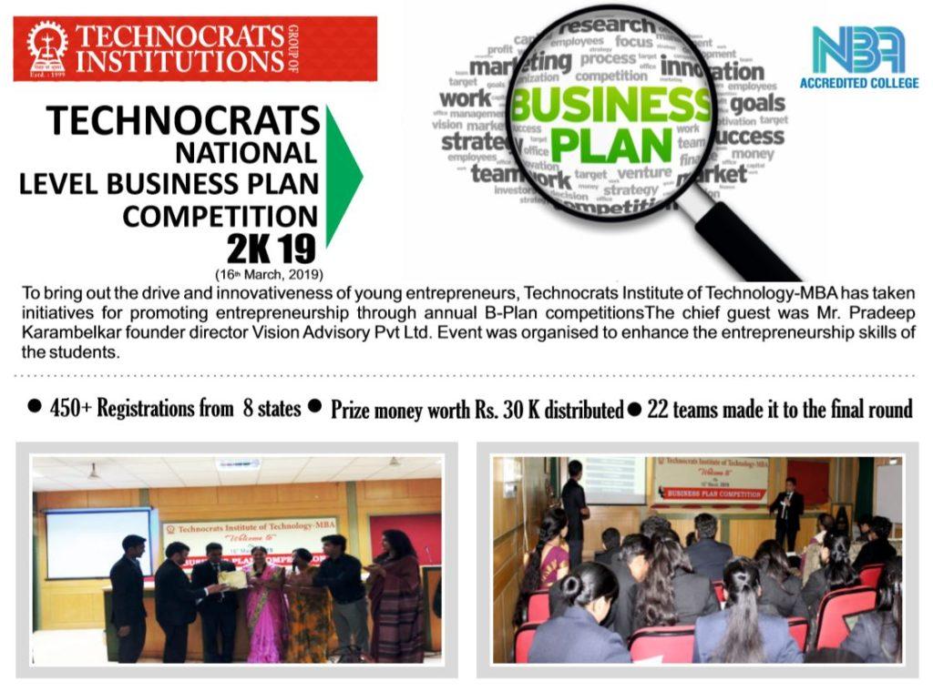 Business Plan Competition-MBA 2K19 – Technocrats TIT Group